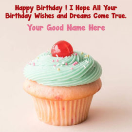 Write Name Pix Birthday Wish Card Photos