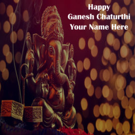 Happy Ganesh Chaturthi Name Greeting Pic