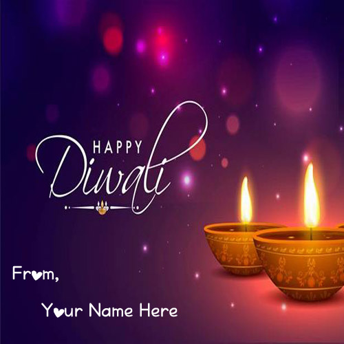 2019 Diwali Best Wish Card With Name Write Pictures