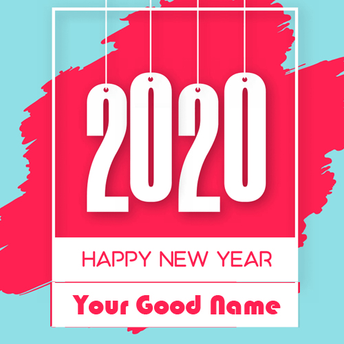 2020 Happy New Year Photo Create Write Name Online