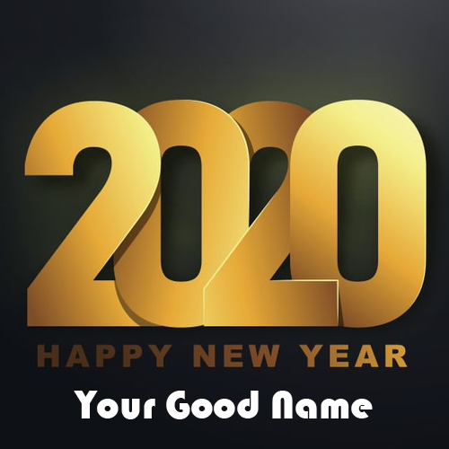 Write Name On Happy New Year Image 2020 Wishes
