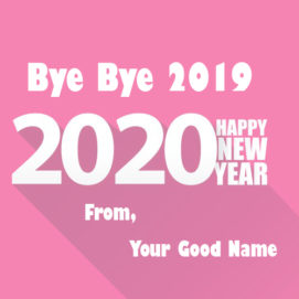 Goodbye 2019 Welcome New Year Image With Name Card