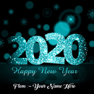 Happy New Year Image With Name Card Edit