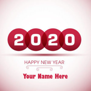 Online Name Write Greeting Card New Year Wishes
